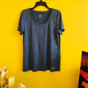 Nike DRI-FIT Exercise Top in Heather Blue